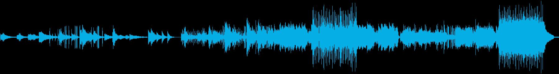 シリアスな雰囲気の劇伴系BGMの再生済みの波形