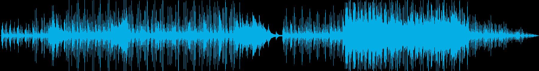 雨をイメージしたしっとりとしたピアノ曲の再生済みの波形