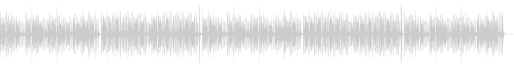 コミカルでレトロ可愛いピアノソロの未再生の波形