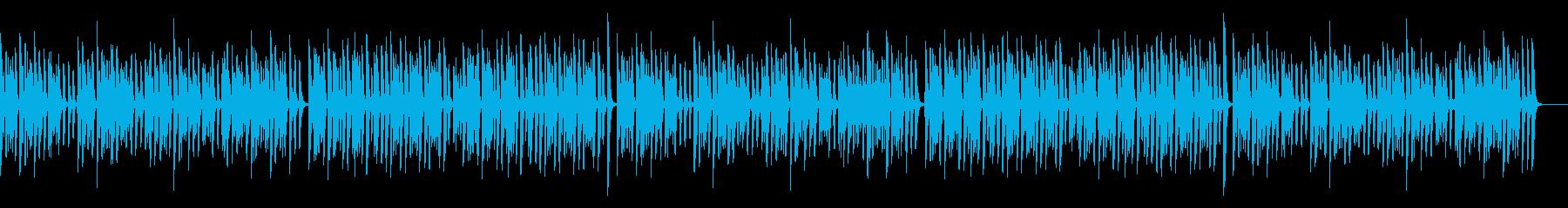 コミカルでレトロ可愛いピアノソロの再生済みの波形