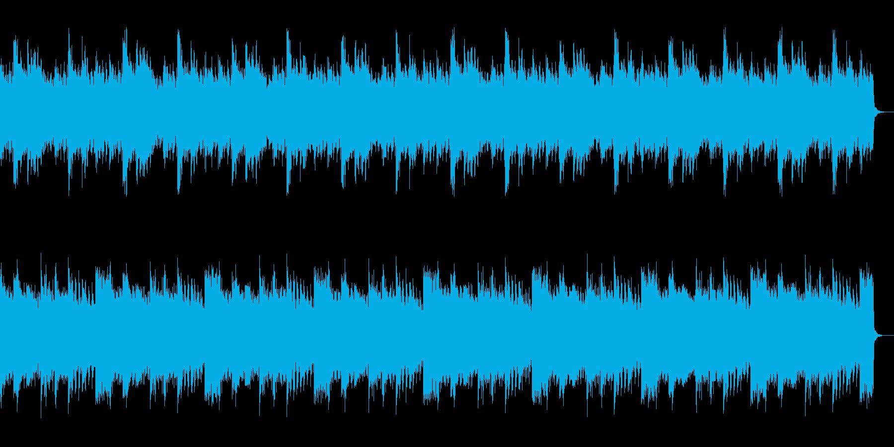 不安や緊張感をイメージさせるピアノBGMの再生済みの波形