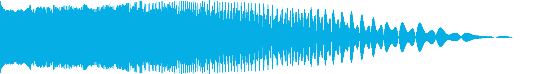 映画風のインパクト・衝撃音「ドーン」の再生済みの波形