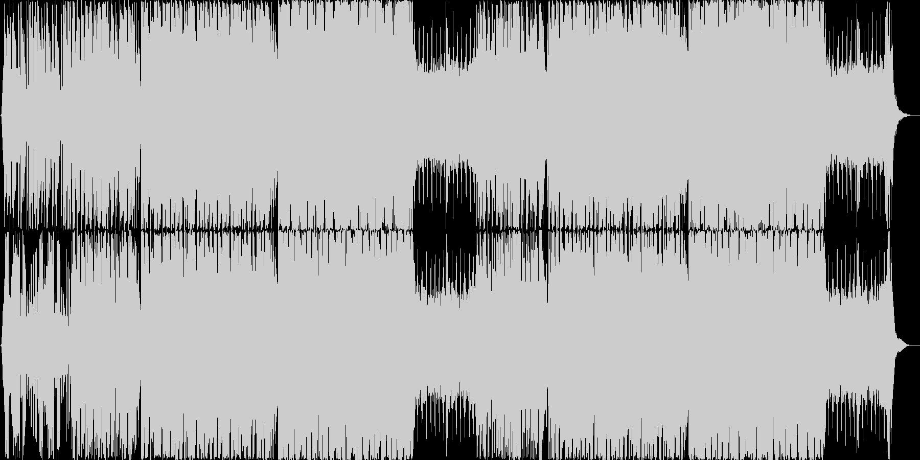 爽やかでどこか哀愁のあるグリッチホップの未再生の波形
