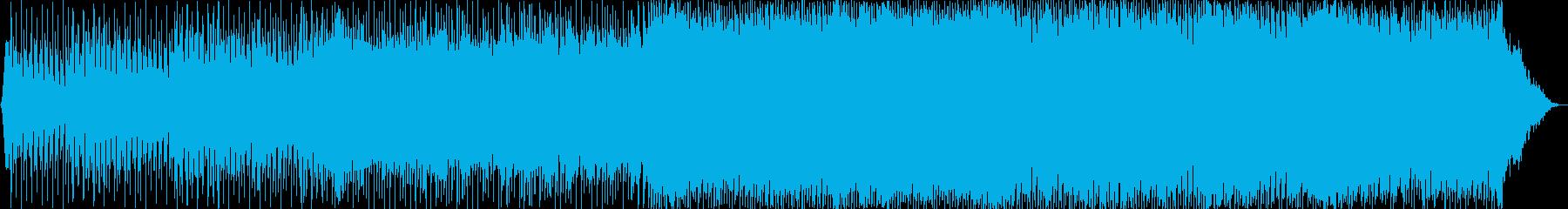 切なくメロウなノリノリのEDM曲の再生済みの波形