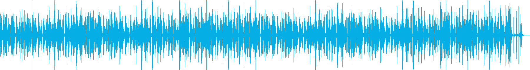 落ち着いた軽快なジャズBGMの再生済みの波形