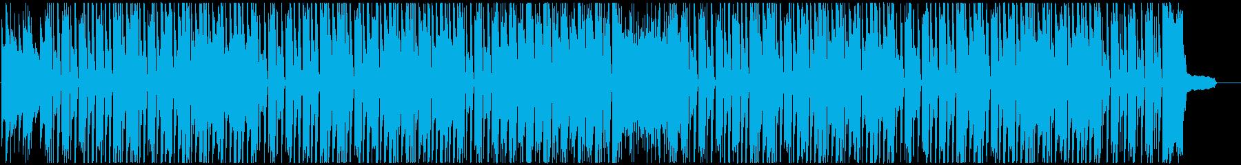 気の抜けた感じのかわいいBGMの再生済みの波形