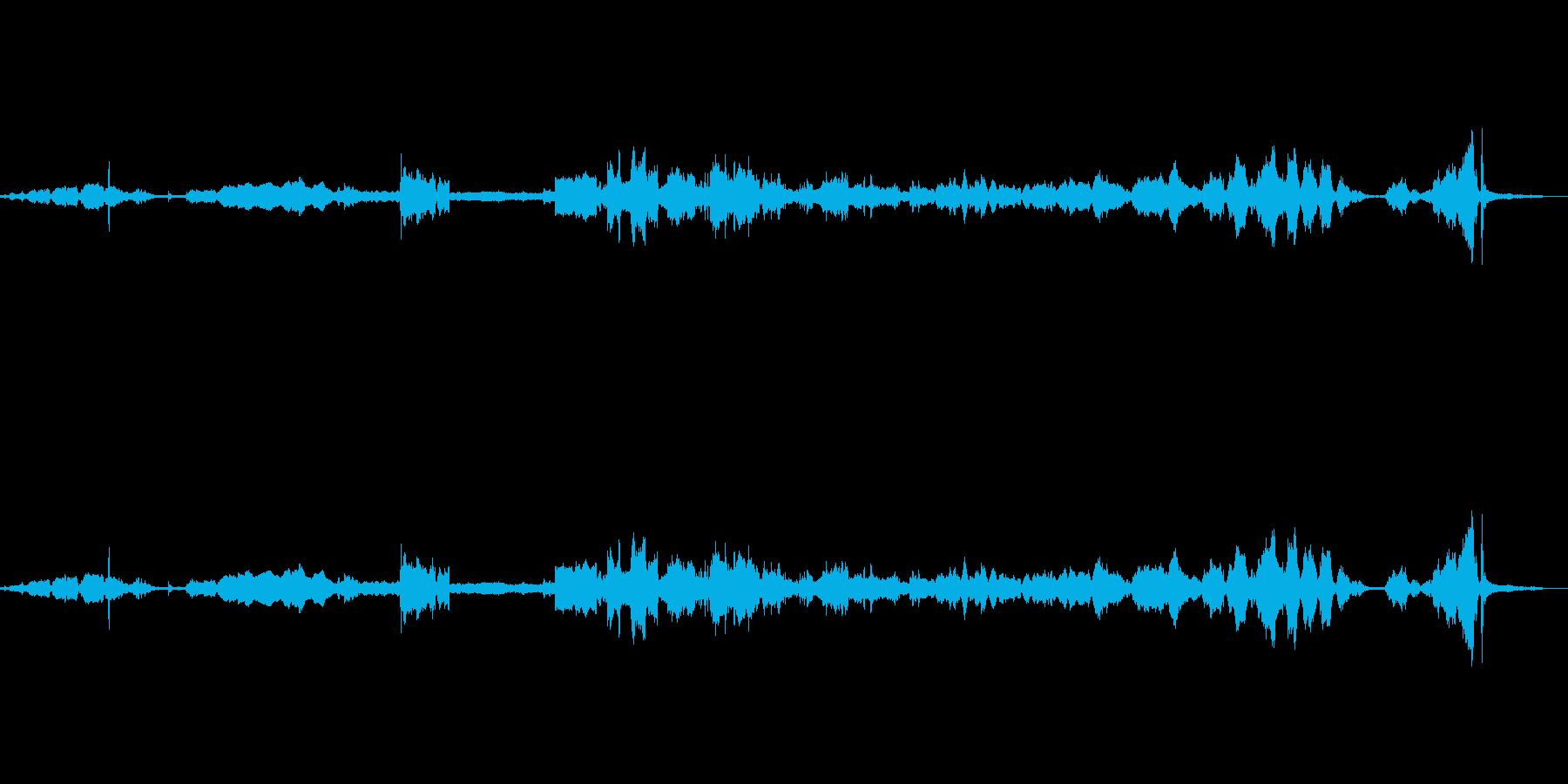 ピアノワイヤードリル、シン、ウィズ...の再生済みの波形