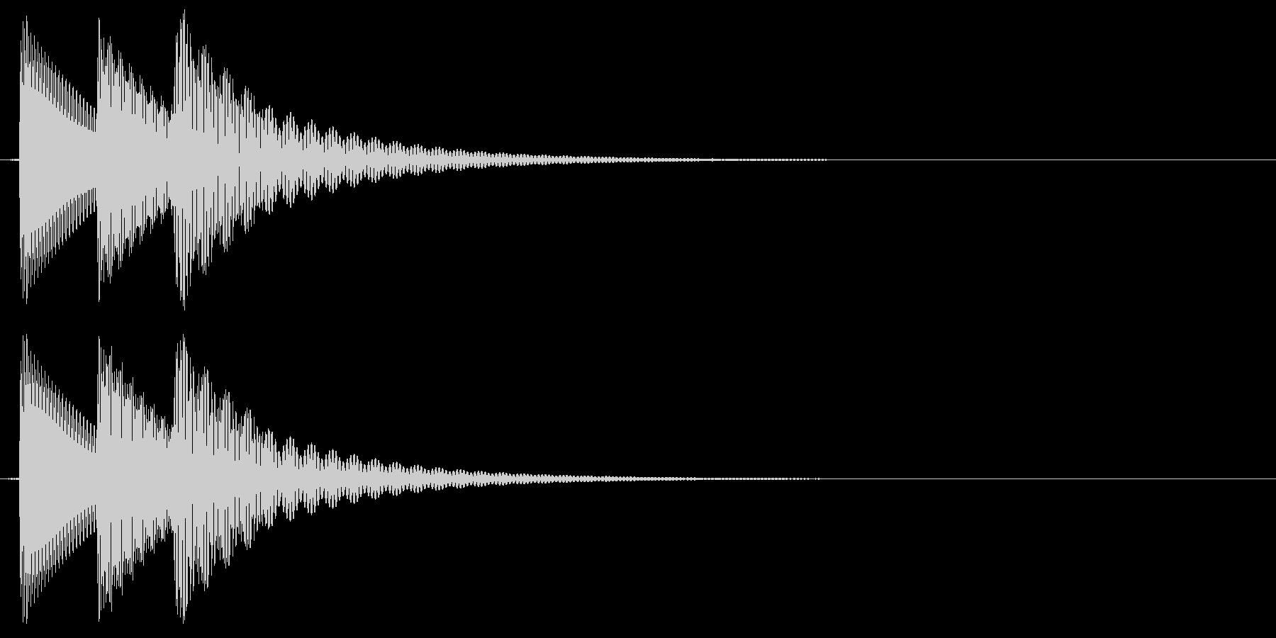 ピロリン(ミス・エラー)の未再生の波形