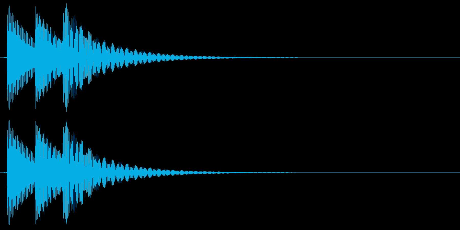 ピロリン(ミス・エラー)の再生済みの波形