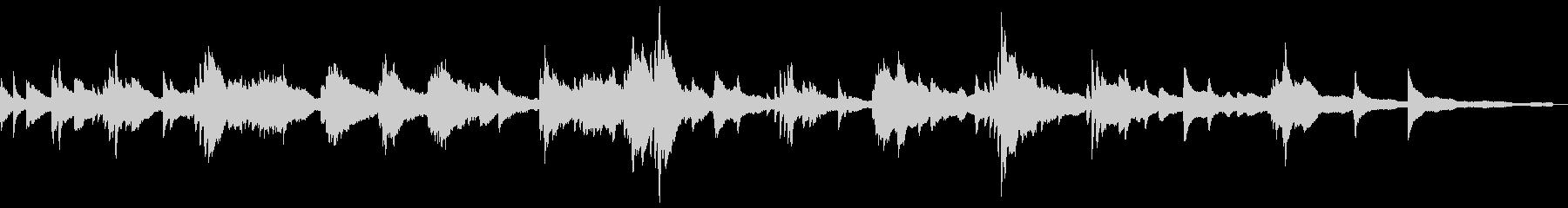 和風の怪しい雰囲気5-ピアノソロの未再生の波形