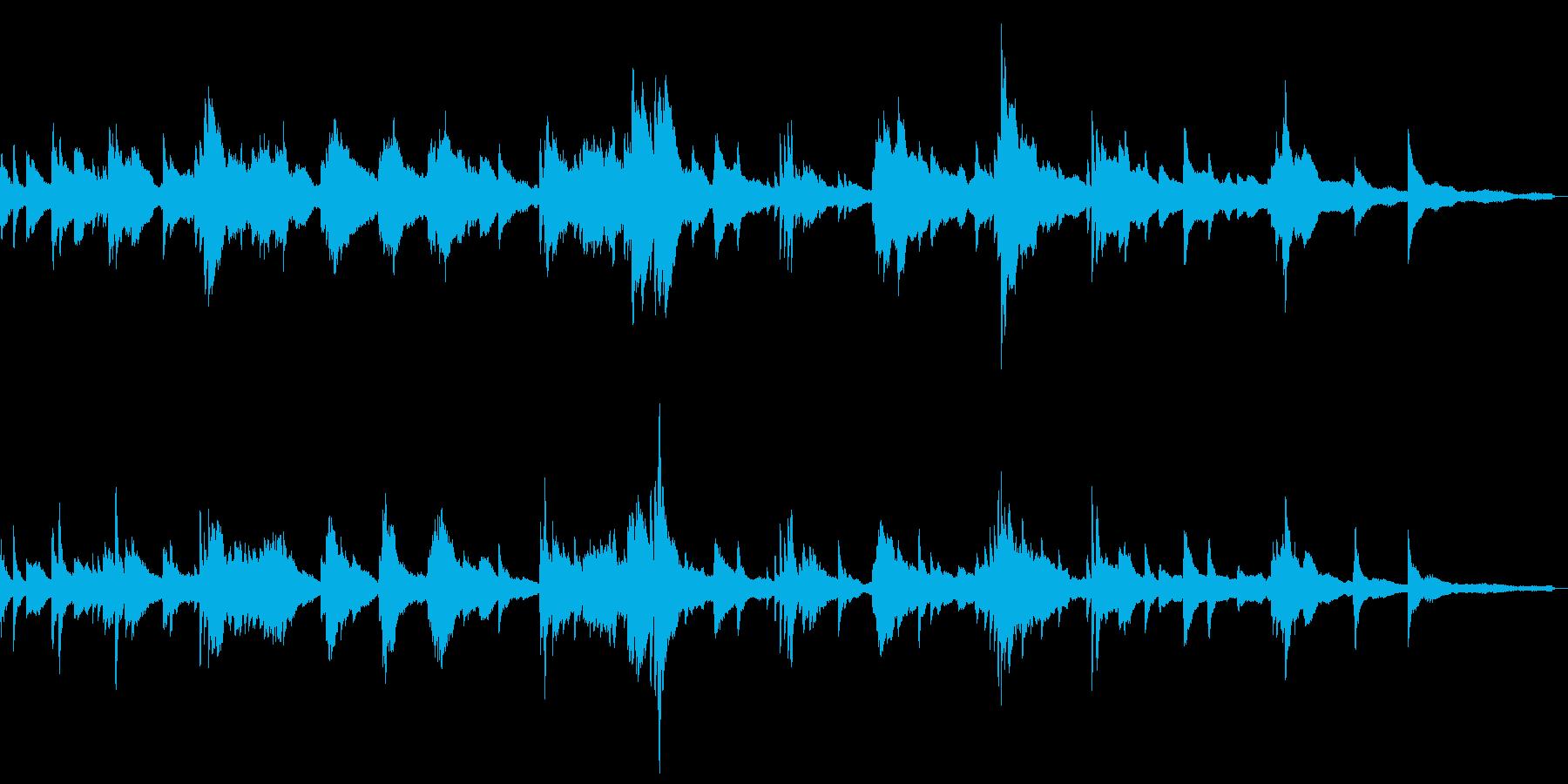 和風の怪しい雰囲気5-ピアノソロの再生済みの波形