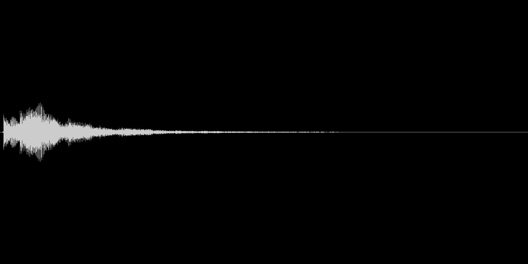 ピロンというアイテム使用時を想定した効…の未再生の波形