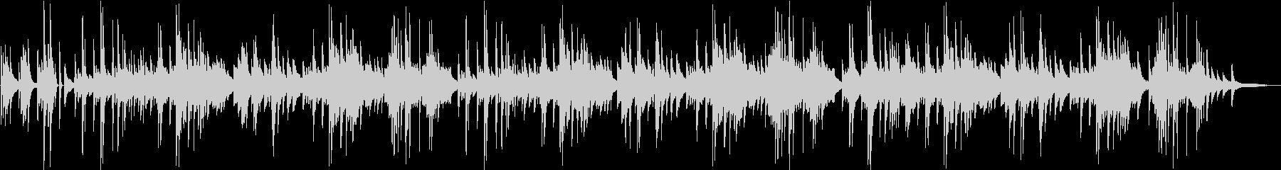 「シューベルトの子守唄」エモいチルピアノの未再生の波形