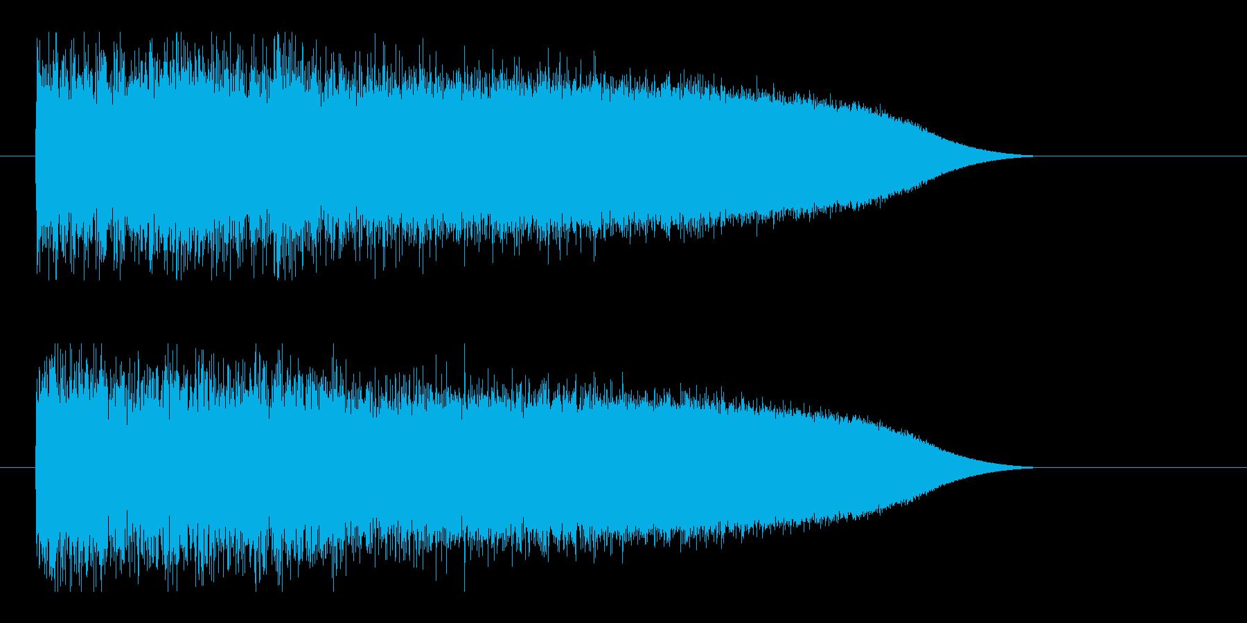 レーザー音-86-3の再生済みの波形