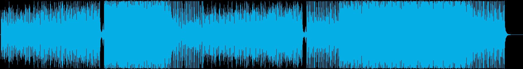 EDM-ハウス-感動-空撮-観光-花火の再生済みの波形