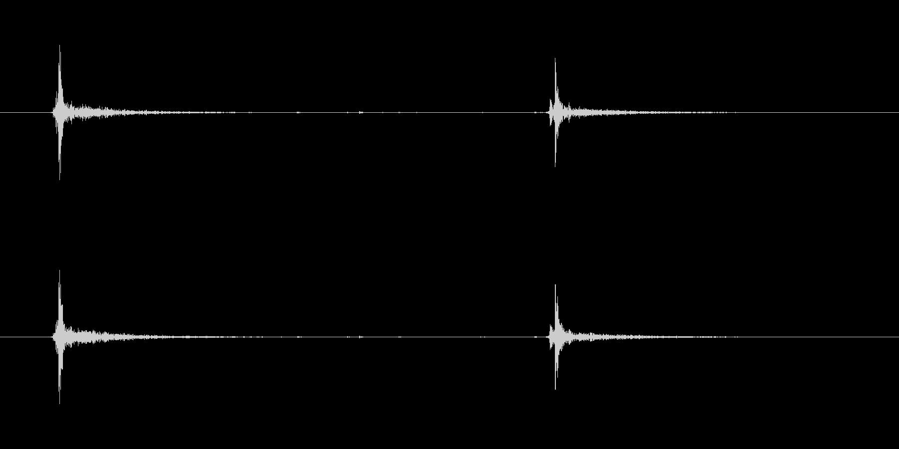 開閉するハンドバッグロック(2クリック)の未再生の波形