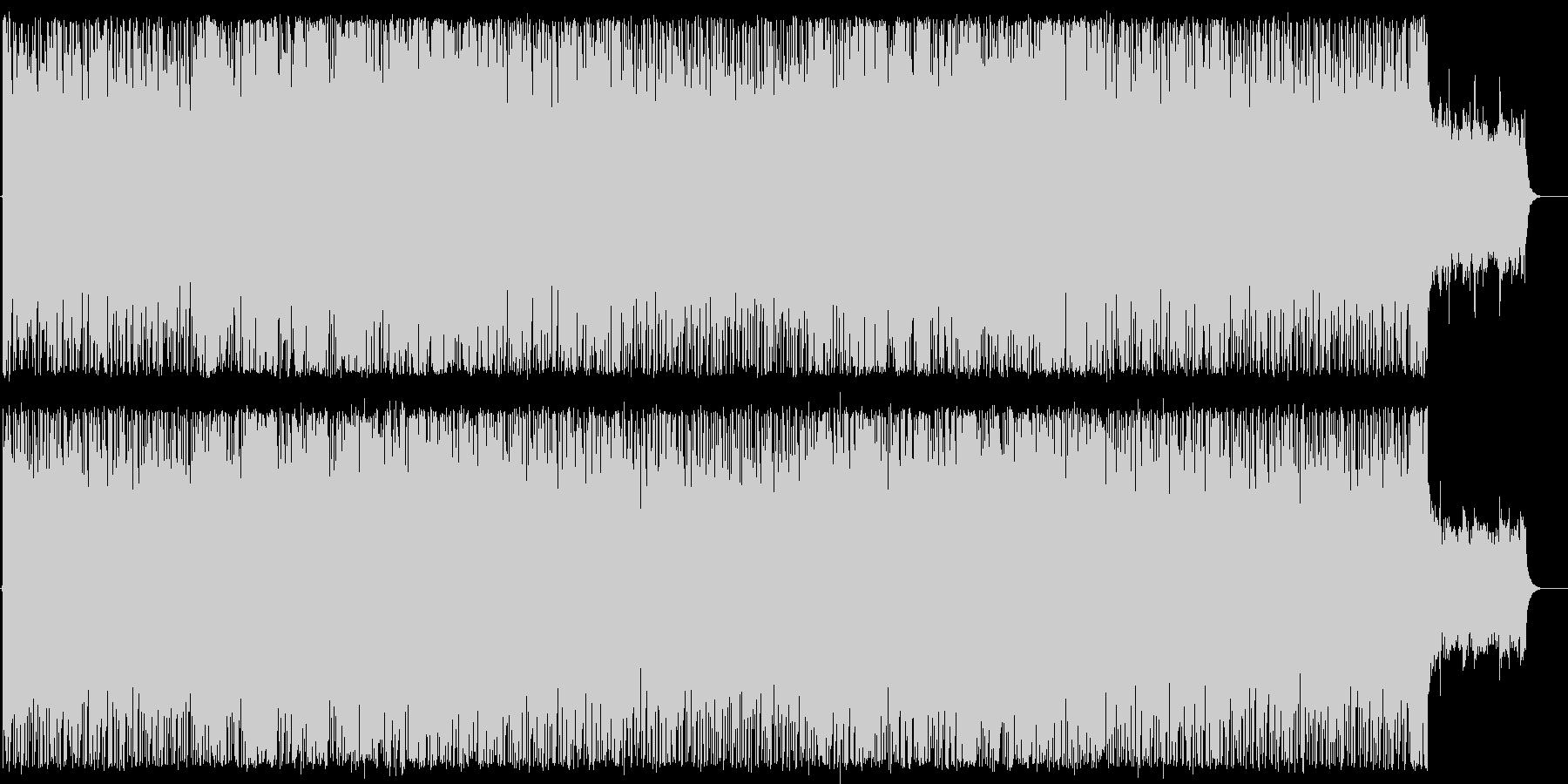 重厚で力強いインスト曲の未再生の波形