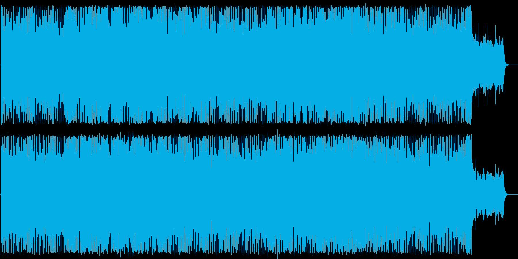 重厚で力強いインスト曲の再生済みの波形