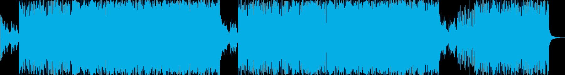 未来的なエレクトロとピアノ 映像向けの再生済みの波形
