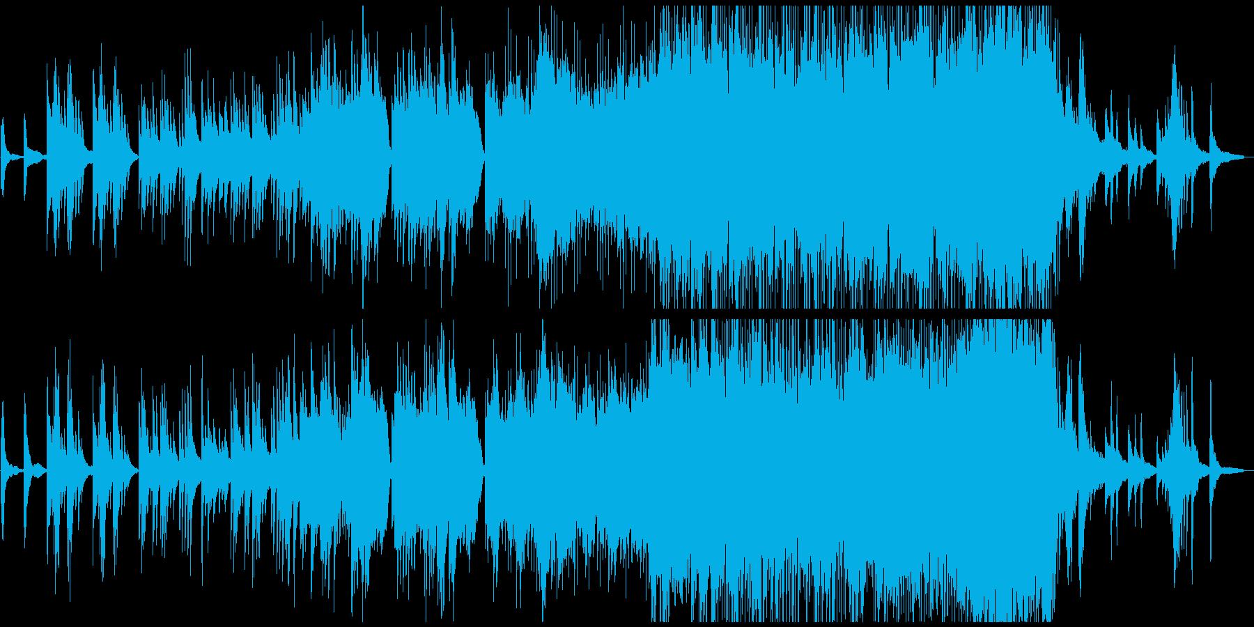 切なく壮大な大河アニメ、ピアノ、弦楽の再生済みの波形