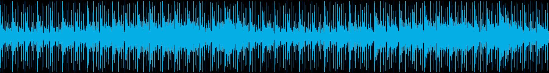 ピアノとノイズ音のヒーリングアンビエントの再生済みの波形