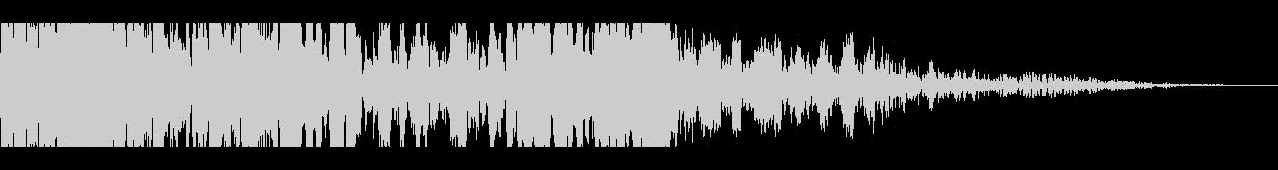 獣モンスターの叫び(長めの遠吠え)の未再生の波形