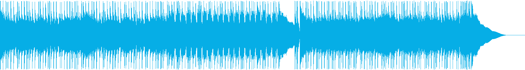 ドライブ感のあるハードロックの再生済みの波形