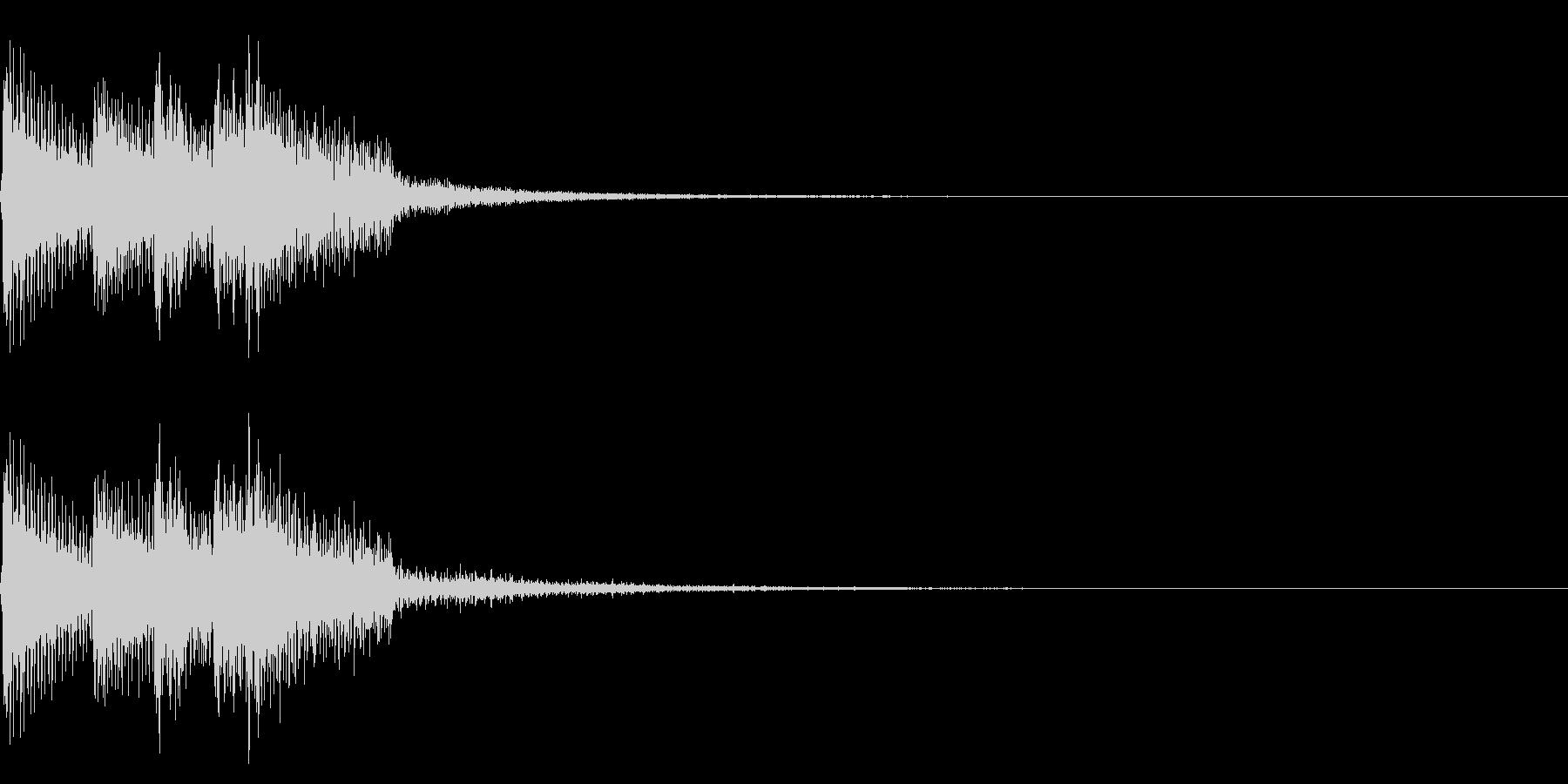 チャラリン(回復クリア/ファミコン/魔法の未再生の波形