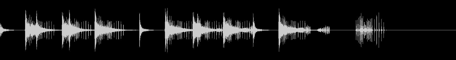 とんとん(派手な建設中の音)B16の未再生の波形