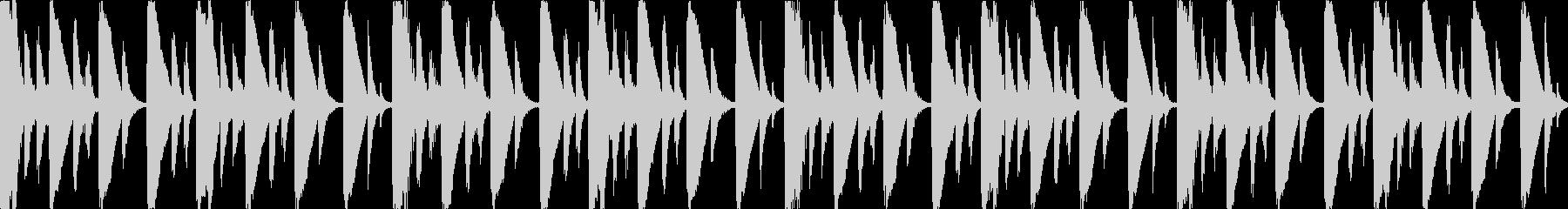 【ループE】浮遊感あるシンセが続くテクノの未再生の波形