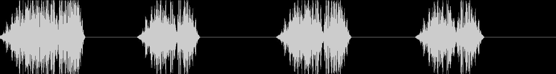 DJプレイ スクラッチ・ノイズ 202の未再生の波形