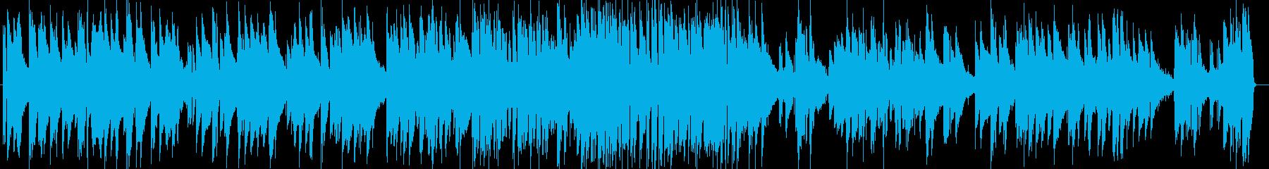 唱歌のピアノトリオの再生済みの波形