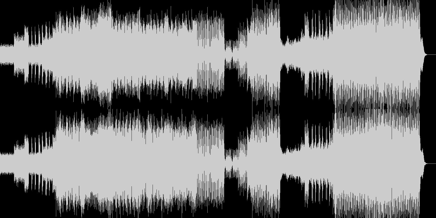 岩戸音階 相撲バトル ロッテルダムテクノの未再生の波形