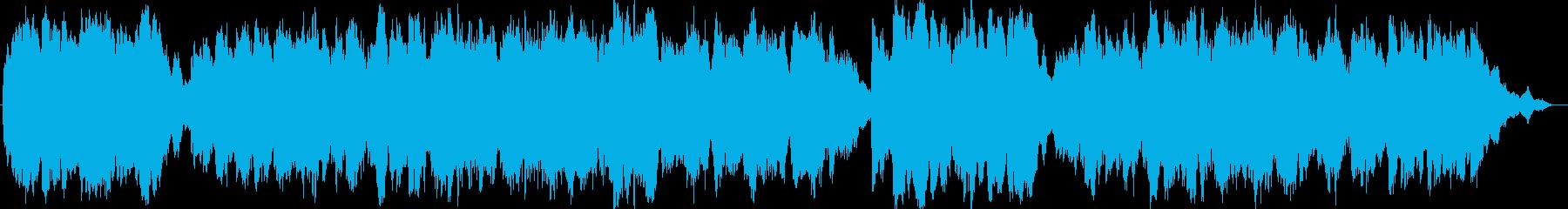 涼しげなシンセのヒーリングミュージックの再生済みの波形