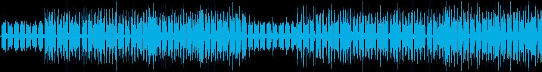 落ち着いてるデジタルなBGM(ループ)の再生済みの波形