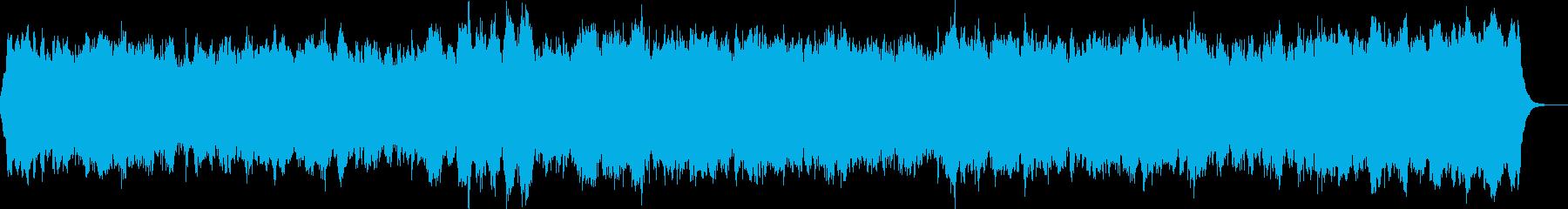 バッハのような重厚で三声のバロック曲の再生済みの波形