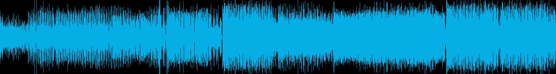 [テンポの良い硬質系クラブミュージック]の再生済みの波形