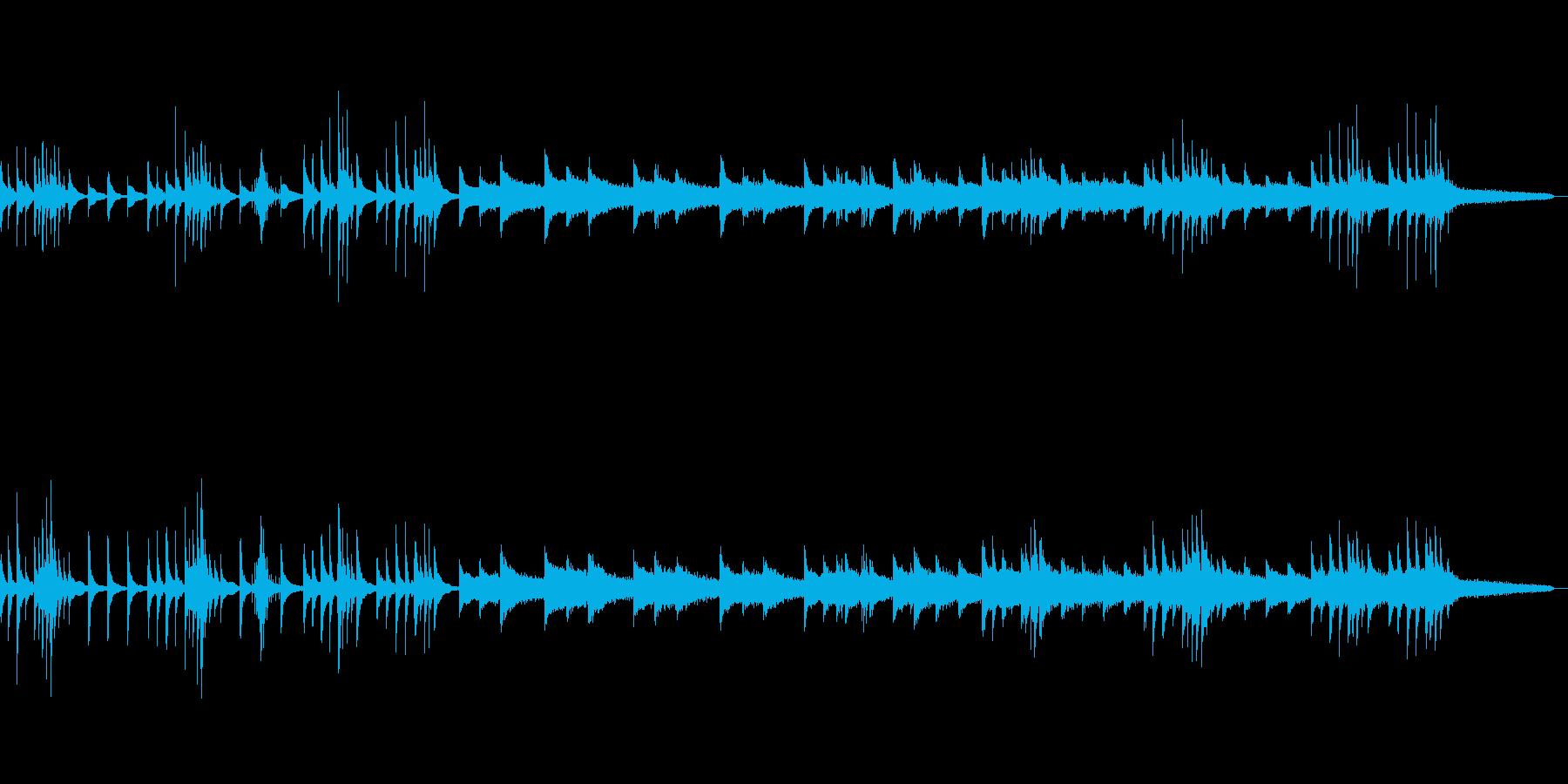 静かな静かな恐怖、日本のホラー-ピアノの再生済みの波形