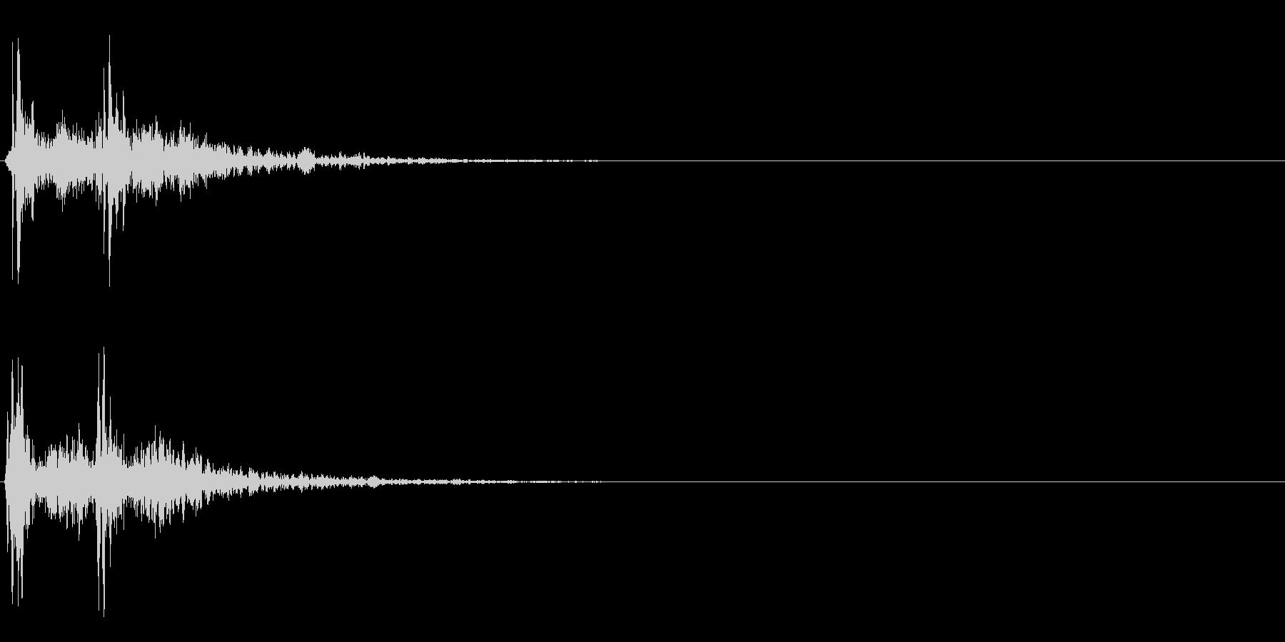 カカーン(時代劇・場面転換・アクセント)の未再生の波形