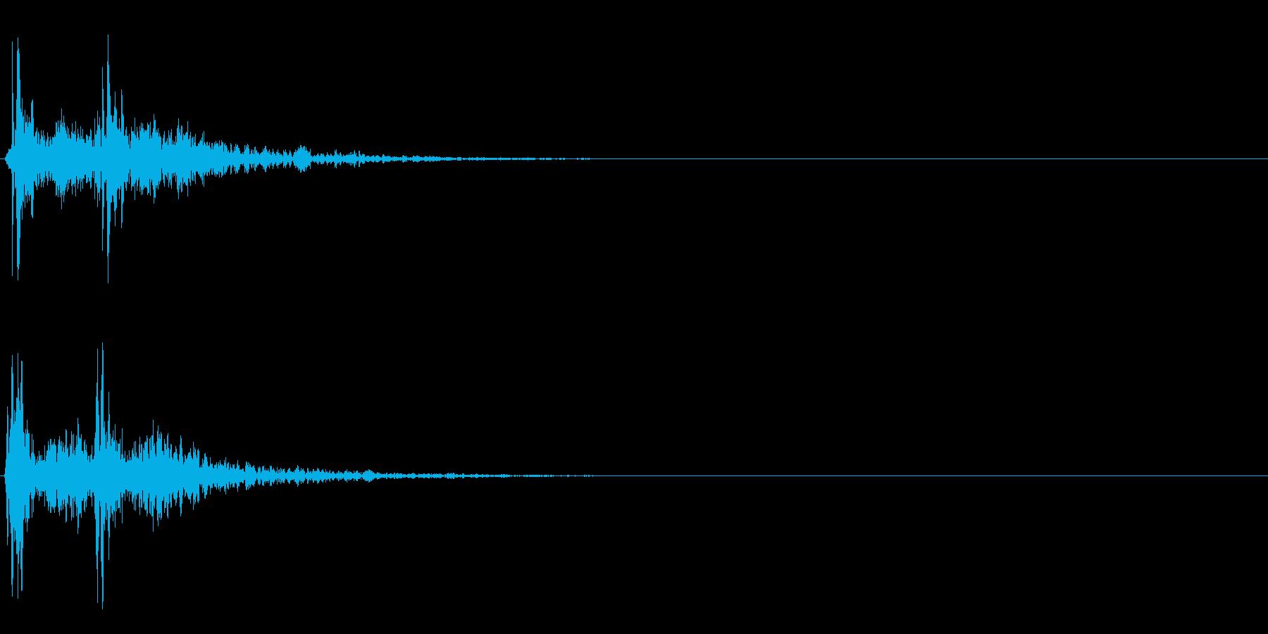 カカーン(時代劇・場面転換・アクセント)の再生済みの波形