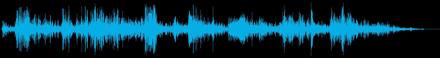 スキューバダイビングの再生済みの波形