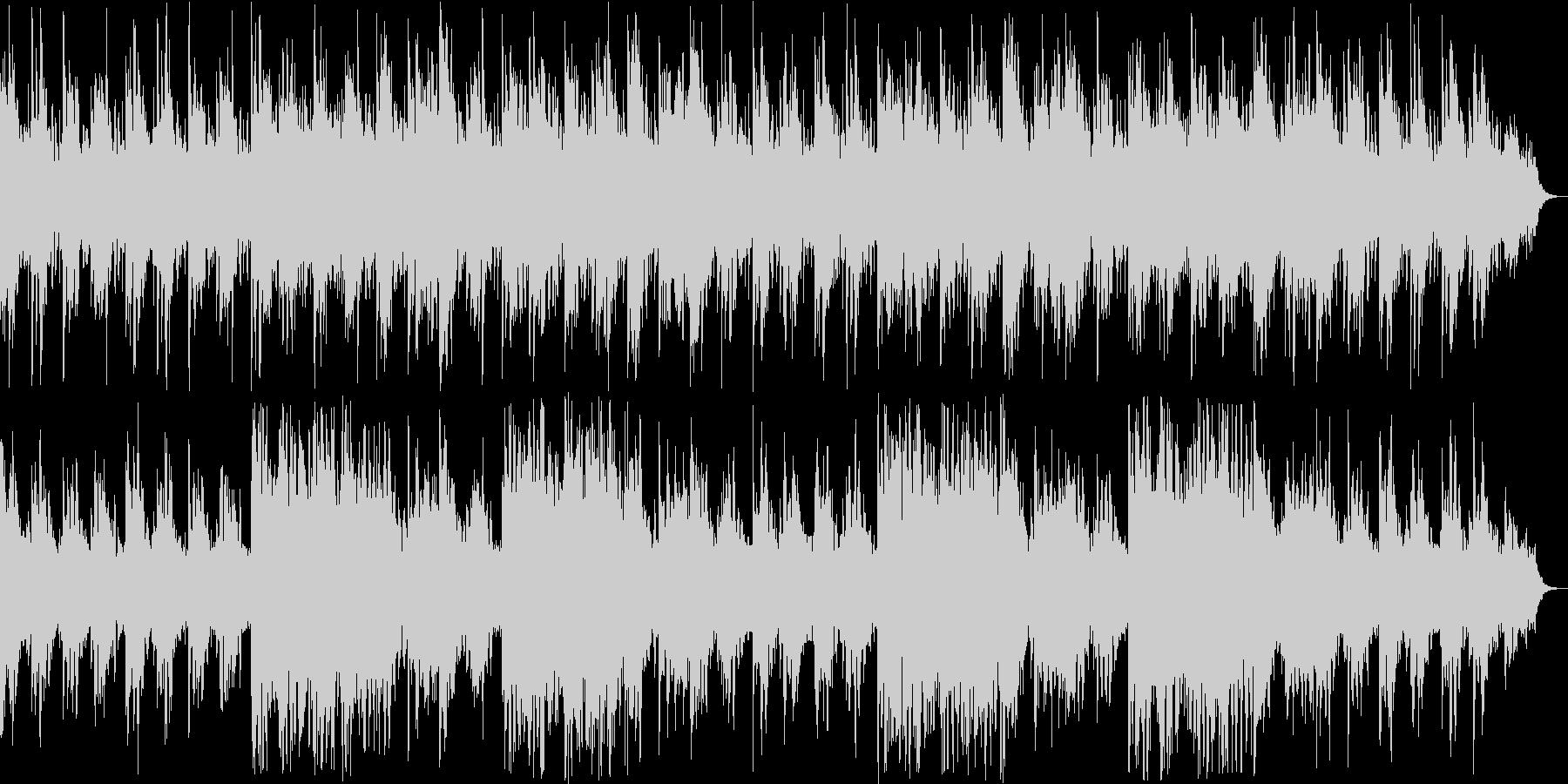 穏やかなリラクゼーション曲の未再生の波形