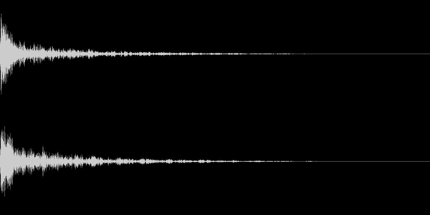 ドーン-45-1(インパクト音)の未再生の波形