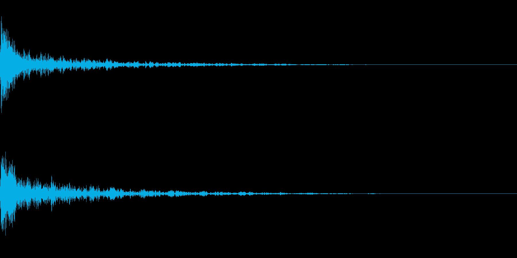 ドーン-45-1(インパクト音)の再生済みの波形