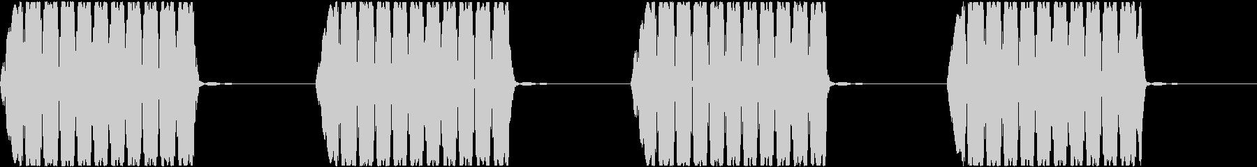 警報アラーム音(中bpm58)ドライ音の未再生の波形