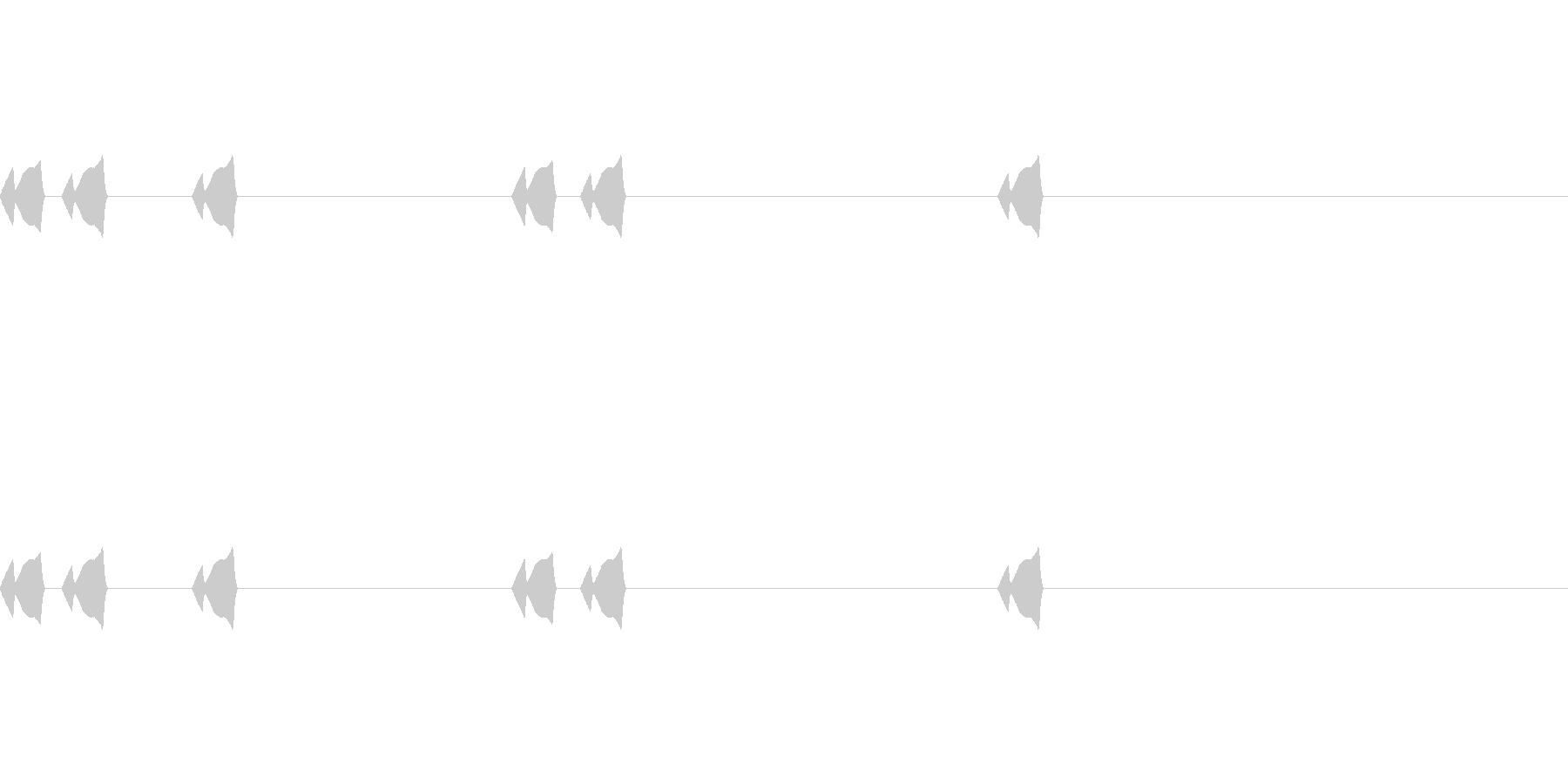 コミカルなSE(ピクピク)_その3の未再生の波形