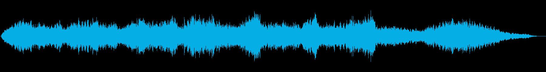 神聖で神秘的な聖歌隊風合唱コーラスの再生済みの波形