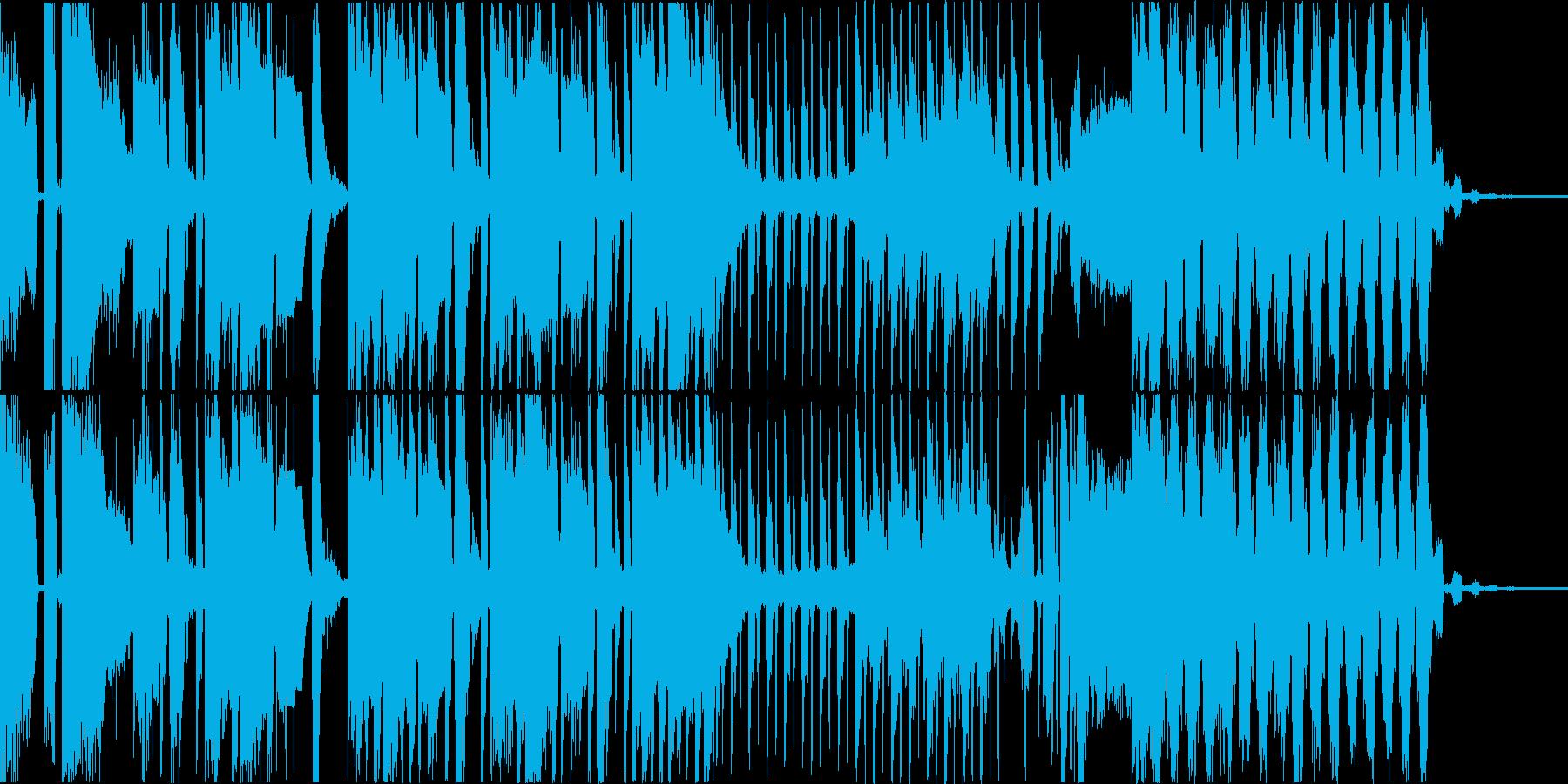 ダークで落ち着いた雰囲気の四つ打ちの再生済みの波形