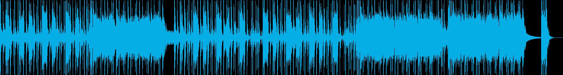 ノリの良いファンク風フュージョンの再生済みの波形