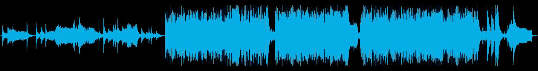 尺八を用いた和ロックの再生済みの波形
